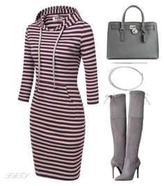 Cool In Gray by flybeyondtheskies on Polyvore featuring GUESS, MICHAEL Michael Kors and Lauren Ralph Lauren