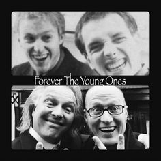Rik and Ade Comedy Actors, Comedy Duos, British Humor, British Comedy, Welsh, Fall Friends, Rik Mayall, Great Comedies, Tv Presenters