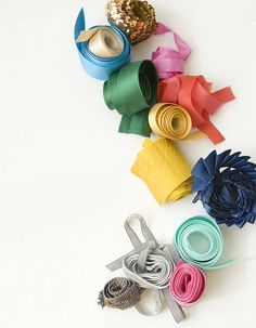 Ribbon for the color accessories provided to guests. Thick ribbons for sashes, thin ribbons for hair.