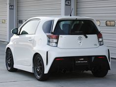 Rear shot of Scion IQ with Wide Body kit.