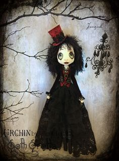 'Jonquil' Urchin Goth Grotto art doll by Vicki @ Lilliput Loft