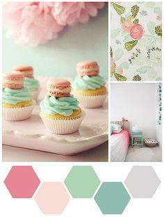 Color Me - Peony, Baby Pink, and Mint by scrappyJedi, via Flickr