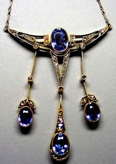 FABERGÉ ~ Gold, Sapphire and Diamond Necklace