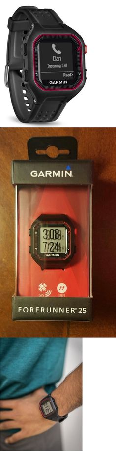 GPS and Running Watches 75230: Garmin Forerunner 25 Gps Running Watch Black/Red Size Large - New BUY IT NOW ONLY: $114.75