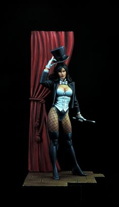 Zatanna , sculpted by Peter Hutchins , 80 mm to the eyeline Comic Book Characters, Comic Books Art, Comic Character, Comic Art, Anime Figures, Action Figures, Zatanna Dc Comics, Justice League Dark, A Kind Of Magic