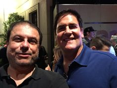 Mark Cuban JT Ippolito at Tiger Woods charity event