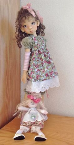 Jumper outfit with handmade rag doll~Fits Kaye Wiggs MSD body like Layla~by DCH