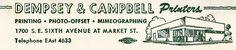 Dempsey & Campbell    A mini stationery note found in a book i was reading. Had some F-Stop camera info scribbled on it. When I get an office, it will be illustrated like this.