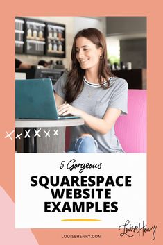 Build a website with Squarespace - Check out these 5 gorgeous Squarespace website design examples to give you inspiration for your own website. #webdesign #websiteinspiration #buildawebsite