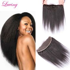 7A Best Malaysian Kinky Straight Lace Frontal Bleached Knots Virgin Human Hair Coarse Yaki  Lace Frontal From Ear To Ear Stock