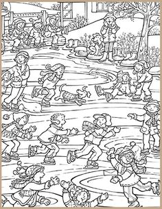 Hidden Picture Puzzles Pages - Hidden Picture Puzzles Pages, Hidden Pictures Printables. Printable Activities For Kids, Rainy Day Activities, Library Activities, Art Activities, Free Printables, Snow Theme, Winter Theme, Colouring Pages, Coloring Sheets