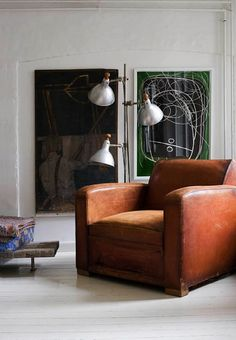 fab art. fab chair. lamp tying them both together.
