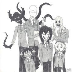 creepypasta in Ouran High school uniforms!