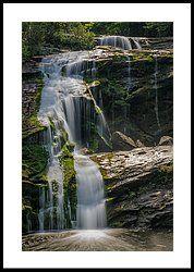 Milky Falls Framed Print by Charlie Choc