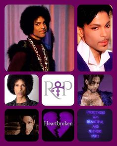 Beautiful Prince collage, may he Royal Badness rest in peace.