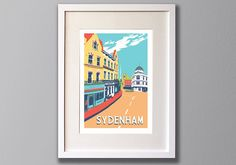 Sydenham Limited Edition A3 Screen Print South London