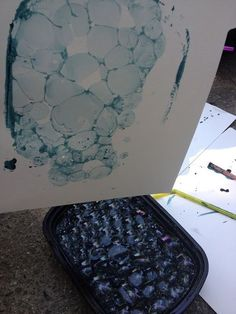 Simple Little Home: Bubble Printing Tutorial Mark Making, Art Club, Art Plastique, Teaching Art, Elementary Art, Oeuvre D'art, Art Techniques, Art School, Art Education