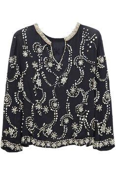 Isabel MarantPierson embellished silk-chiffon top