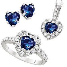 LORELEI Blue & White Sapphire Gift Set in Sterling Silver is only $89! Retail value of 275.