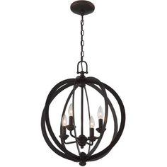 Lite Source Oria 4-Light Pendant, Dark Bronze Finish - Walmart.com