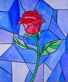 BEAUTY AND THE BEAST PAINTING -Uncorked Art