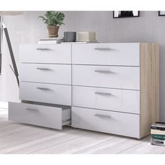 Contemporary design that provides a modern and cohesive ambience makes this the perfect dresser from Tvilum. Makeup Storage Drawers, Ikea Storage, Ikea Drawers, Ikea Hack Bedroom, Bedroom Decor, Bedroom Ideas, Bedroom Inspo, Girls Bedroom, 8 Drawer Dresser