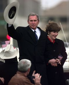 George W. and Laura Bush -Such class