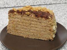 Tort Smetanik -- favorite cake of all time Romanian Desserts, Russian Desserts, Romanian Food, Romanian Recipes, Good Food, Yummy Food, Polish Recipes, Eat Cake, Baked Goods