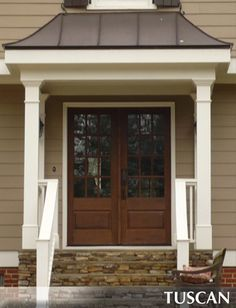 Veranda photos and portico before and after photos Source by ashlingravely Front Door Overhang, Front Door Porch, Front Porch Design, Side Porch, House Front, Porch Roof Designs, Front Entry, Front Doors, Portico Entry