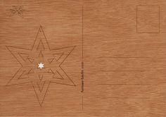 postcard wood 3 folding star cards by formesberlin on Etsy