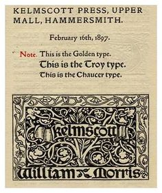 William Morris Archive - The Kelmscott Press. LINK for more images.