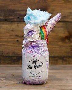 the yard milkshake bar gulf shores & the yard milkshake bar gulf shores Cute Snacks, Cute Desserts, Cute Food, Delicious Desserts, Yummy Food, Unicorn Milkshake, Milkshake Bar, Milkshake Recipes, Milk Shakes