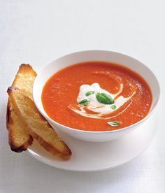 Rajčatová polévka - ApetitOnline.cz Soup Recipes, Vegetarian Recipes, Dessert Recipes, Healthy Recipes, Tasty, Yummy Food, Healthy Cooking, Curry, Food And Drink