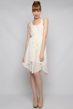 Casual Marilyn Dress Beautiful, simple white dress that with the right accessories could be a wonderful backyard/town hall wedding dress.