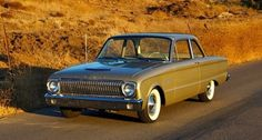 1962 Ford Falcon: I think this was the model and year of my brother's first car. Not very pretty but it started on the coldest mornings.
