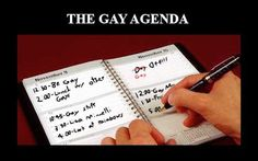 When gays are accused of having an 'agenda,' here's a hilarious image to offer as a reply.