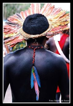 Amazônia Brasil. Ethnic Diversity, Cultural Diversity, Arte Plumaria, Xingu, Aztec Warrior, Native American Photos, Tribal People, Forest Art, Amazon Rainforest