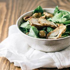 warm spinach salad +
