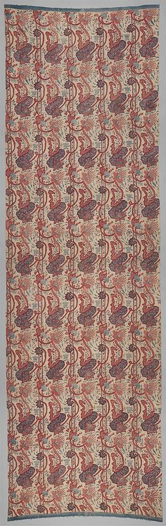 Chintz, first quarter of the 18th Century - This type of pattern, was intended for the Dutch market. It found particular favor in the northern Netherlands province of Friesland and especially in the town of Hindelopen, where it would most likely have been everyday wear for a wealthy farmer's wife.