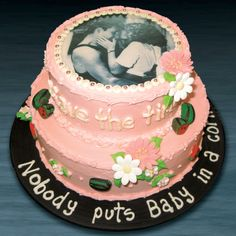 This is the perfect cake for a DIRTY DANCING-themed party! Looking forward to bringing DIRTY DANCING to Sacramento Dec. 26, 2014 - Jan. 4, 2015 FOr tickets and info: http://www.californiamusicaltheatre.com/events/dirty-dancing/