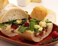 Baguette and Berries with Wisconsin Brie Cheese |
