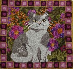Cattitude Rug pattern by SerendipityRugs on Etsy, $55.00