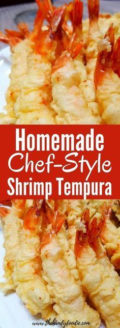 Homemade Shrimp Tempura easy recipe l cheap meal l budget l healthy food l shrimp recipes l shrimp meals l fried appetizers l quick recipe via @thehandyfoodie