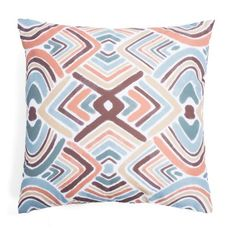 Add extra comfort to your outdoor patio furniture with this decorative outdoor throw pillow.