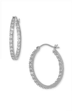 Sparkly hoop earrings that go with everything