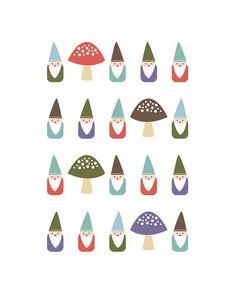 Little Gnomes | jenimdesign via Etsy