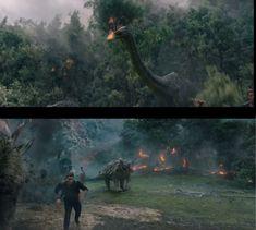 Jurassic World Fallen Kingdom New TV Spot (Captures) Film Jurassic World, Jurassic World Fallen Kingdom, Dinosaur Art, Cute Dinosaur, World Movies, The Lost World, Falling Kingdoms, World Photo, Chris Pratt