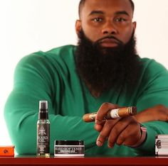 is a blend of essential oils and extracts that will leave the beard & body moisturized and conditioned. Head to for a great deal Beard Game, Epic Beard, Sexy Beard, Beard Styles For Men, Hair And Beard Styles, Gorgeous Black Men, Beautiful, Black Men Beards, Beard Tips