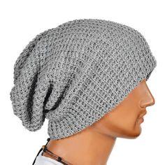 Chic Men Women Warm Winter Knit Ski Beanies Skull Bandana Slouchy Oversized Sport Hat Unisex Bonnet