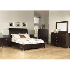 SLD Ventura Dark Brown Dresser and Mirror RH-8088-DR-MR